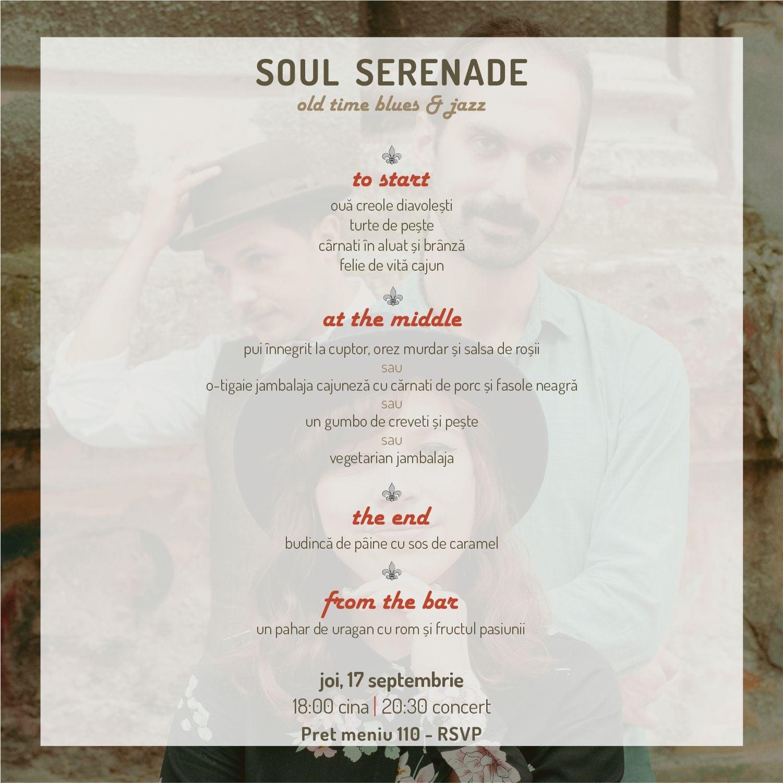 meniu Soul Serenade